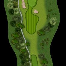 Moors Valley Golf Club hole 8
