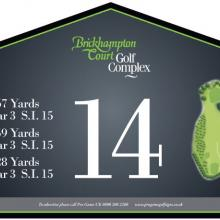 Brickhampton Court Golf Club Tee 14.JPG