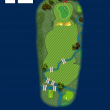 Frinton Golf Club Hole Plan 12