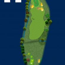 Frinton Golf Club Hole Plan 14