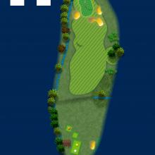 Frinton Golf Club Hole Plan 14