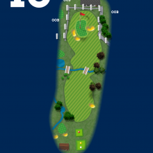 Frinton Golf Club Hole Plan 18
