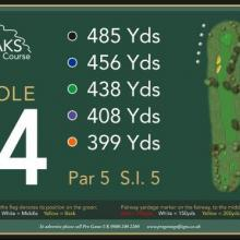 The Oaks Golf Club Hole 14