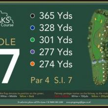 The Oaks Golf Club Hole 17