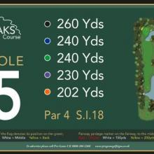 The Oaks Golf Club Hole 5
