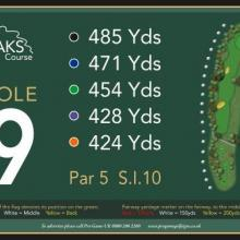 The Oaks Golf Club Hole 9